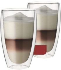 Transparante Latteglazen Dubbelwandig, set van 6 - Maxxo