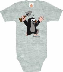 Licht-grijze Logoshirt Baby Rompertje 74