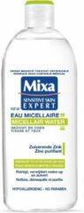Mixa Micellair Water Gezicht en Ogen Zuiverende Zink - Gemengde tot Vette Gevoelige Huid - 400 ml - Micel