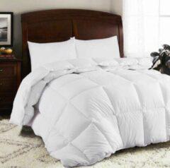 Witte Homéé® 4 Seizoenen dekbed 3dTEX - tijk 100% percale katoen - Carré doorgestikt - eenpersoons 140x200cm