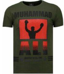 Groene T-shirt Korte Mouw Local Fanatic Muhammad Ali - Rhinestone T-shirt