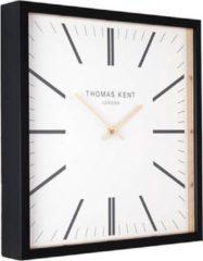 Extra Grote XXL Vierkante Square Klok Thomas Kent Design - Wit Zwart Klassiek - Ø86CM