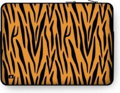 """DuckZip Laptophoes 13 inch – Macbook Sleeve 13"""" - Tijgerprint"""