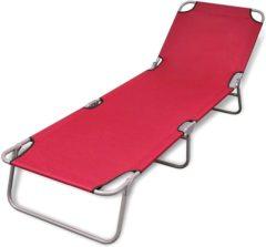 Rode VidaXL Ligstoel inklapbaar met verstelbare rugleuning (rood)