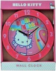 Hello Kitty klok roze 25cm