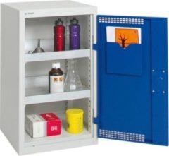 Stumpf Metall Stumpf® Basic-Plus Umweltschrank mit 2 Auffangwannen (je 10 Liter Volumen), lichtgrau / blau - 90 x 50 x 50 cm
