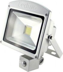 Ledino LED-Flutlichtstrahler, HF-Sensor, 20 Watt Epistar-LED, silber Farbe: Warmweiß