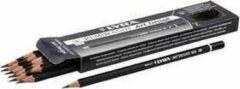 Arp design Art Design tekenpotloden, d: 6,9 mm, vulling: 1,8 mm, , Hardheid 4B , 12stuks