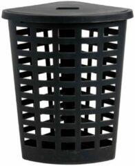 Xenos Wasmand hoek - zwart - 42,6x42,6x76 cm
