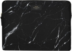 Zwarte Wouf Laptophoes 15 inch black marble