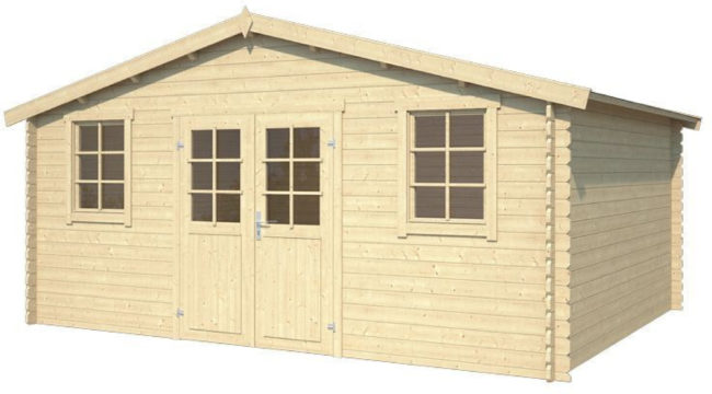 Afbeelding van Outdoor Life Products Outdoor Life | Blokhut Udo 380 | Blank | 500x400 cm