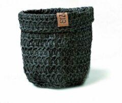 SIZO Knitted Paper Bag - Zwart Ø 20 cm