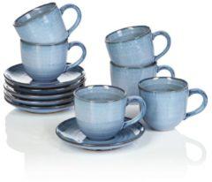 Tassen-Set IMPRESSIONEN living blau meliert