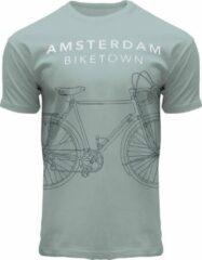 Groene Fox Originals Amsterdam Line Biketown Unisex T-shirt Maat S