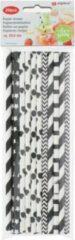 Alpina Rietjes 19 Cm Papier Zwart/wit 20 Stuks