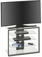 Antraciet-grijze Bermeo Glazen Tv meubel Zippo - Small
