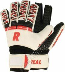 Real Pro Grip Keepershandschoenen Kinderen - Wit / Rood / Zwart | Maat: 6,5