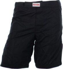 Witte Nihon MMA/Kickboksbroek (zwart) KB stijl roze rand maat XS