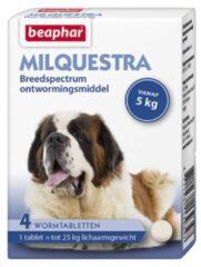 Beaphar Milquestra Hond - Anti wormenmiddel - 4 tab 5 Tot 75 Kg