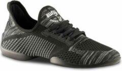 Dames Dans Sneaker met Splitzool Anna Kern Suny 110 Pureflex - Dansschoen Salsa, Stijldansen - Zwart/Grijs - Maat 40