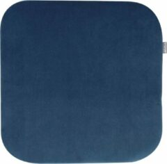 Nolon universeel zitkussen - Vierkant - Velvet - Donkerblauw