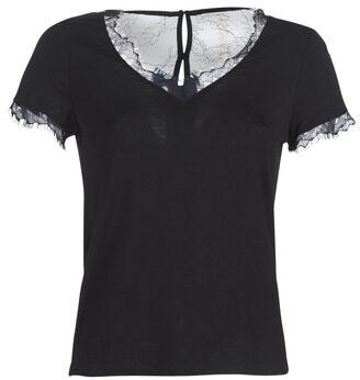 Afbeelding van Zwarte T-shirt Korte Mouw Morgan DMINOL