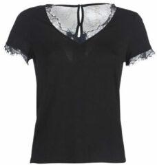 Zwarte T-shirt Korte Mouw Morgan DMINOL