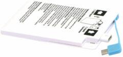 Witte Grab 'N' Go Powerbank 2600 mAh met micro-USB + Lightning aansluiting - wit
