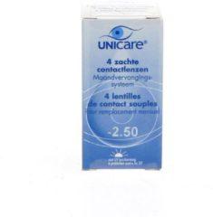 Unicare Maand -2.50 - 4 stuks - Contactlenzen