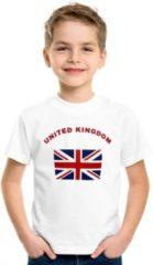 Shoppartners Wit kinder t-shirt United Kingdom 158-164 (XL)