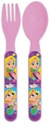 Roze Easy Licences International Bestek set Disney Princess Tangled Rapunzel (plastic)