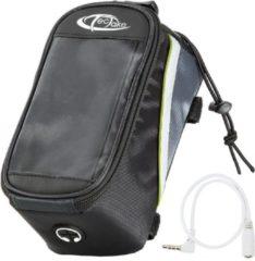 TecTake - Frametas fietstas voor o.a. smartphone e.d. zwart groenL 401610