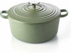 Groene BK Bourgogne Braadpan - 24 cm - Olive Green