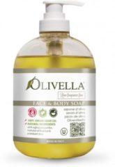 Olivella Vloeibare zeep zonder toevoeging van parfum met veel Olijfolie 500ML ( 2 stuks)