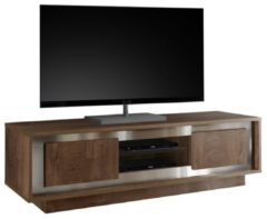 Donkerbruine Pesaro Mobilia Tv-meubel SKY 156 cm breed in Cognac bruin