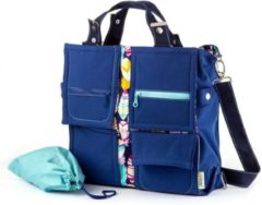 "Blauwe Liliputi Mama Bag ""Feather"""