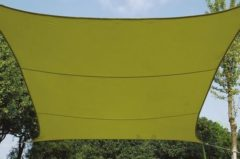 Merkloos / Sans marque Schaduwdoek - Zonnezeil - Vierkant 3.6 X 3.6 M, Kleur: Lichtgroen