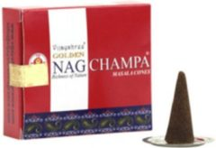Bruine Vijayshree Golden Nag Champa Masala Wierookpegels 20gr.
