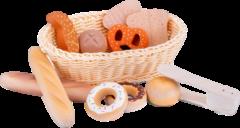Houten broodmandje set