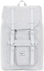 Grijze Herschel Little America Mid-Volume Rugzak 13 inch Light Grey Crosshatch / Grey Rubber