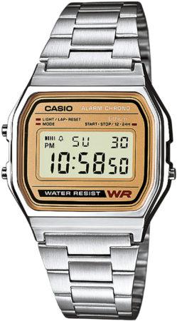 Afbeelding van Zilveren Casio Collection A158WEA-9EF - Horloge - Staal - Zilverkleurig - Ø 33.2 mm