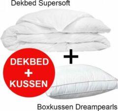 Witte Klaas Vaak Dekbed Supersoft - 140x220 cm + Box Hoofdkussen