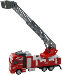 Rode Merkloos / Sans marque Brandweerauto diecast pull back