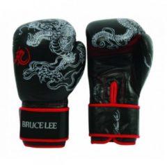 Bruce Lee bokshandschoenen Dragon zwart/rood maat 10oz