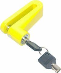Gele QuniQ® QuniQ Motorfiets scooter schijfremslot 60mm remschijf bereik met geharde 10 mm vergrendelpin en 2 sleutels