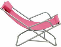 VidaXL Klapstoelen 2 st staal roze