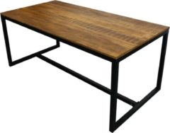 Zwarte Kick Collection Kick Industrial eetkamertafel Square 180