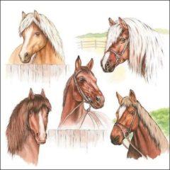 Bruine Ambiente Horse Range papieren servetten