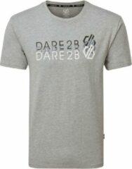 Dare 2B Focalize Grafisch T-Shirt Met Korte Mouwen Voor Heren Lichtgrijs