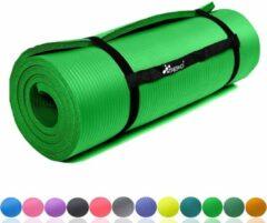 Tresk Sens Design Fitnessmat - 185x60 cm - 1,5 cm dik - Lichtgroen